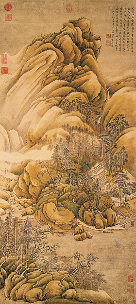 "After Wang Wei's ""Snow Over Rivers and Mountains"""