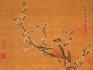 Plum Blossoms and Wild Bird