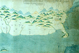 Map of Taiwan and the Penghu Archipelago