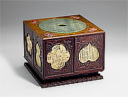Square Sandalwood Curio Box (with 30 curios inside)