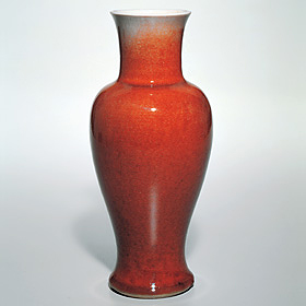 Ruby-red Kuan-yin Tsun Vase