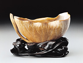 Cup in the Shape of a Lotus Leaf