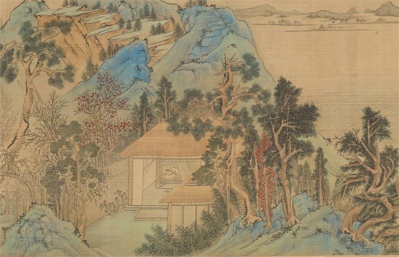 古畫動漫—明文徵明仿趙伯驌後赤壁圖