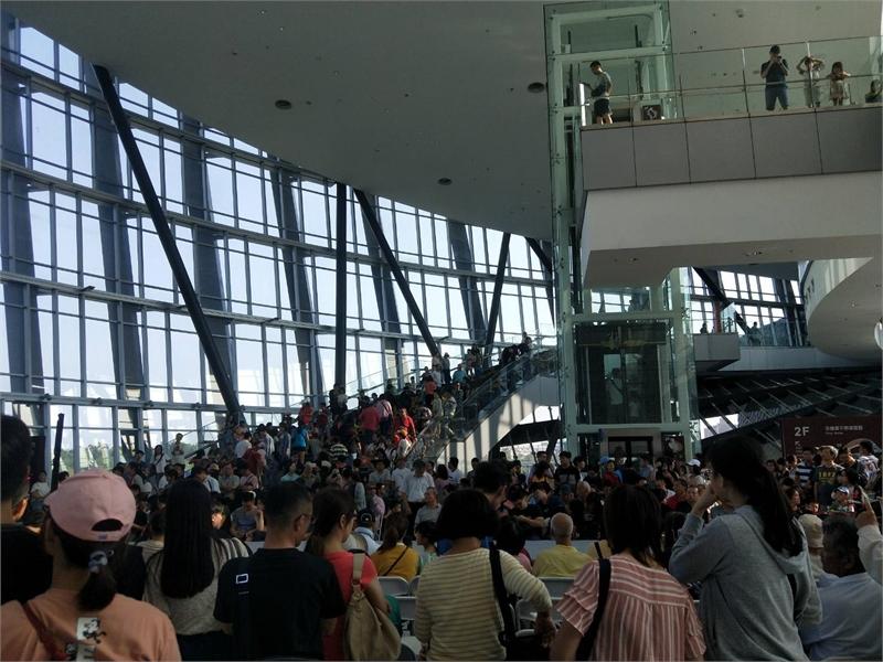 國慶連假期間故宮南院參觀人潮