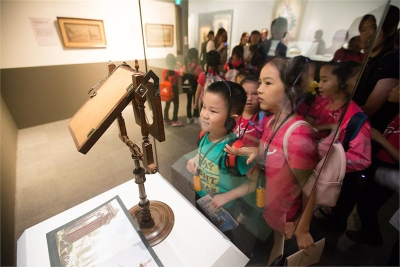 故宮南院策展專業與教育推廣並進,讓小朋友從小培養參觀博物館的習慣。