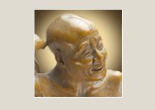 Архат, чешущий спину – статуэтка из самшита (Выставочная серия 02)